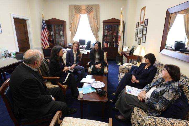 Students met with Congressmember Roybal-Allard to discuss funding PA education. Photo credit: Kevin Lohenry, PhD, PA-C.