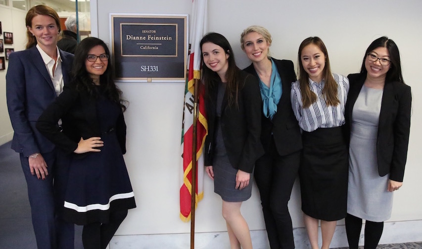 A group of USC students met in Senator Dianne Feinstein's office to advocate on behalf of PA students and their future patients. Photo credit: Claire Norman.
