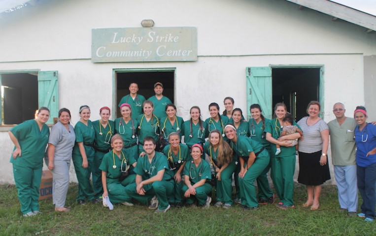 Wagner College PA students on a recent mission trip to Belize. (Photo courtesy Wagner College)