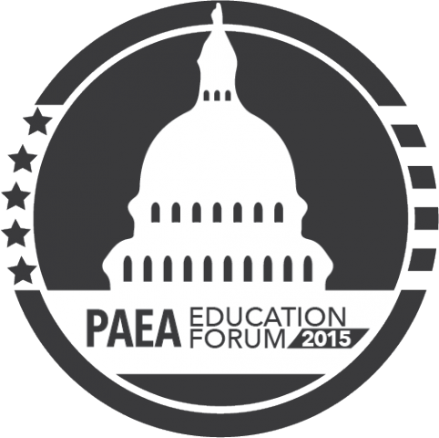 black and while Forum logo with Capitol Building graphic