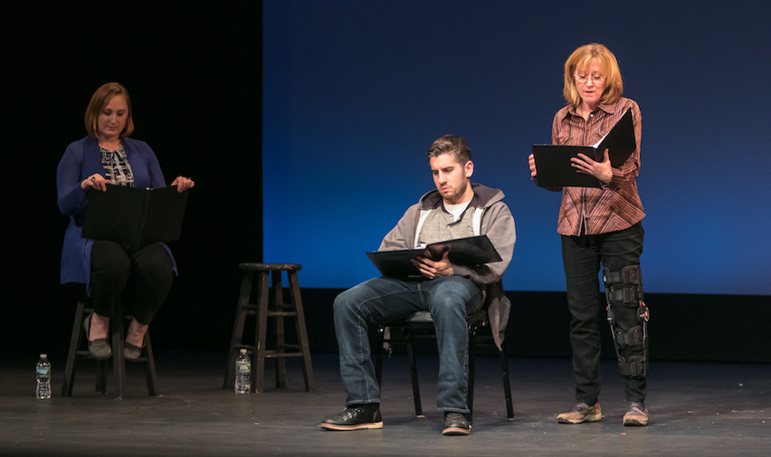 Healing Voices OnStage: Caregivers' Stories staged reading, part of the 2017 Stages Festival. Photo credit: Jerry Dalia
