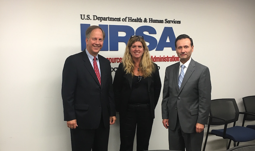 From left to right: PAEA President Bill Kohlhepp, PAEA CEO Timi Agar Barwick, and HRSA Administrator George Sigounas. Photo: Tyler Smith/PAEA