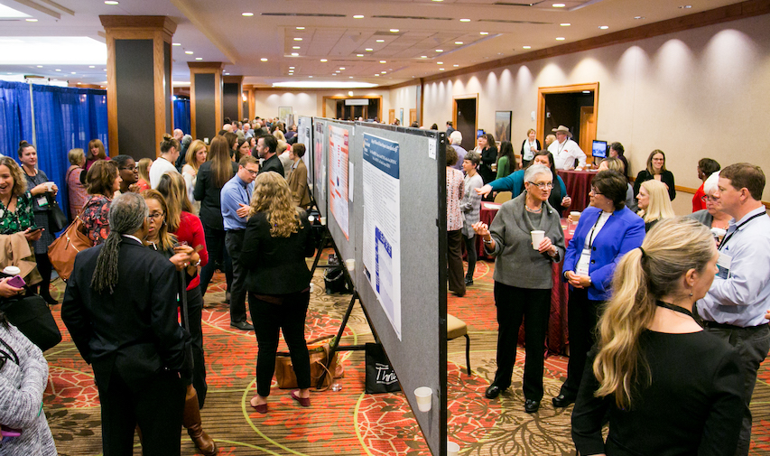 The research poster session at the 2017 PAEA Education Forum. Credit: PAEA