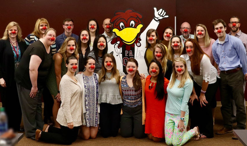 USC–Columbia students and faculty celebrate 2017 Red Nose Day. Image credit: Amy Allen, USC–Columbia PA program