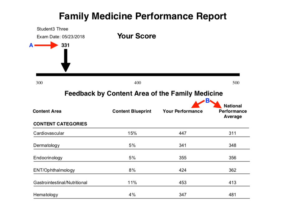 Family medicine student report