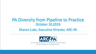 PA Diversity from Pipeline to Practice
