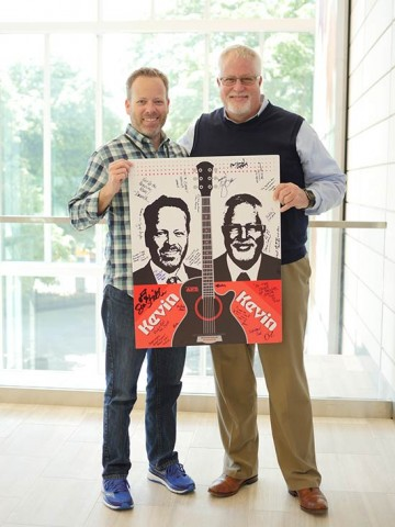 Kevin Schuer (left) and Kevin Lohenry (right) promote their upcoming concert.