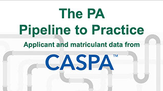 PA Pipeline to Practice: Applicant and Matriculant data from CASPA