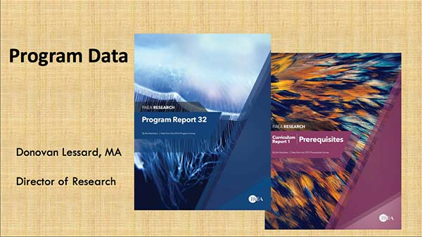 Program, Faculty, and Student Data from PAEA