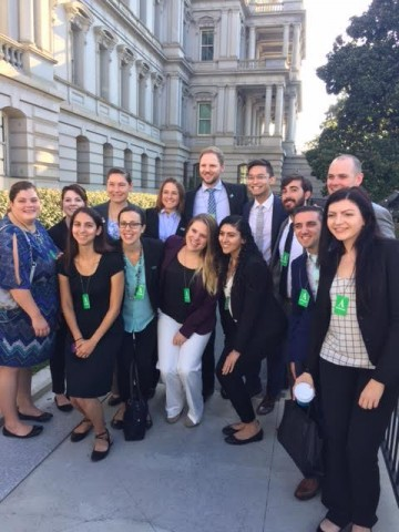 The 2016 SHPF fellows in front of the Eisenhower Executive Office Building. Credit: Kendall Mealy, PAEA